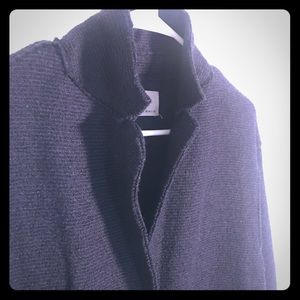 Zara Blended Wool outerwear Navy Coat